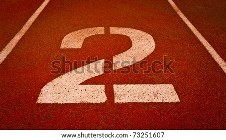 Number two for the competition or race - stock photo