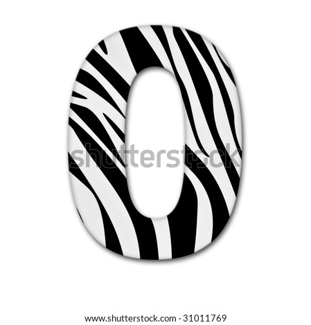 Number zero. Made of animal print. It has a clipping path - stock photo
