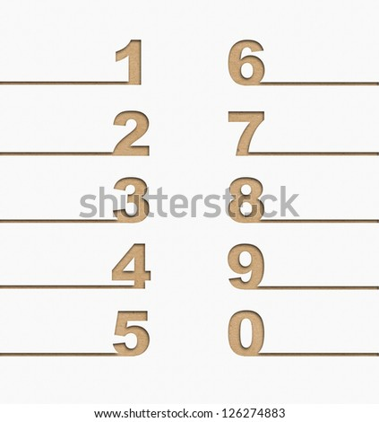 numbers set, Recycle concept - stock photo