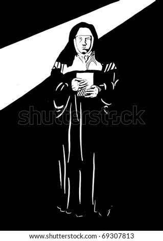 Nun - stock photo