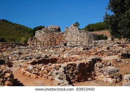 Nuraghe Palmavera - Sardinia - Italy monument - stock photo