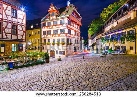 Nuremberg, Germany at the Albrecht Durer House. - stock photo