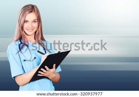 Nurse. - stock photo