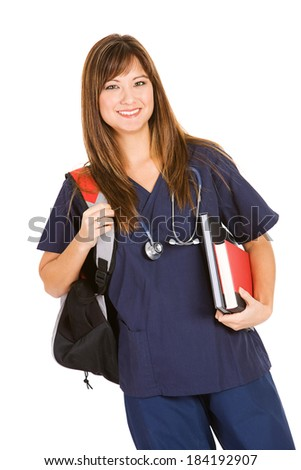 Nurse: Woman Is A Medical Student - stock photo