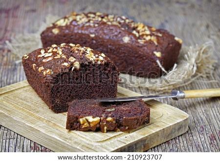 Nutella coffee cake - stock photo