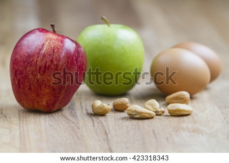 Nutritional supplement concept. Studio shot, selective focus - stock photo