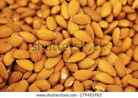 nuts background texture - stock photo