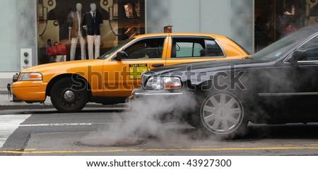 NY cars - stock photo