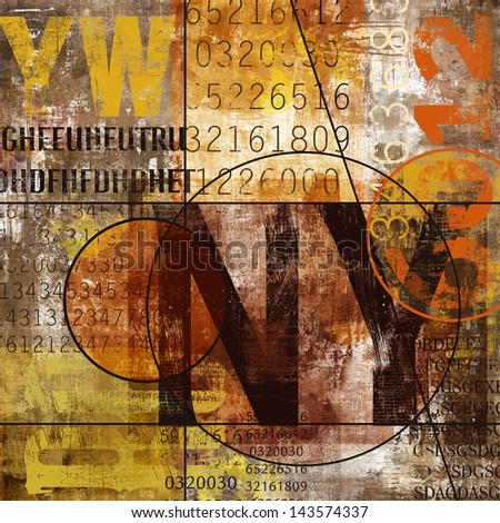 NY Grunge collage with typo elements - stock photo