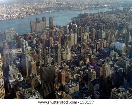 NYC from above - stock photo
