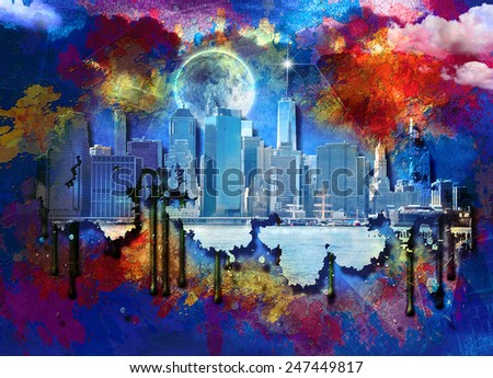 NYC Landscape - stock photo