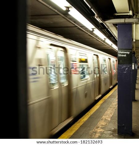nyc subway - stock photo