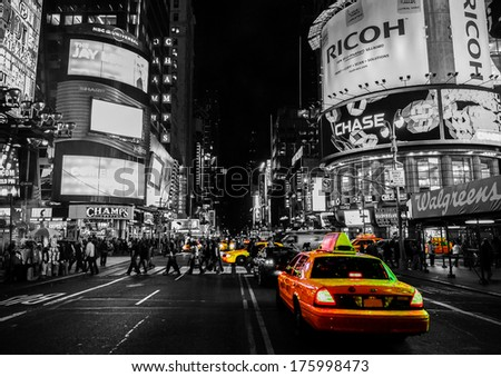 NYC Yellow Cabs - stock photo