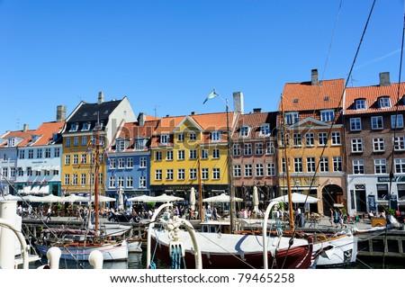 Nyhavn street. Copenhagen. - stock photo