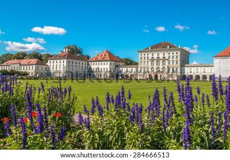 Nymphenburg Palace in Munich - stock photo