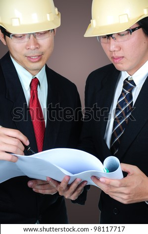 o asia engineers discussed about thier project. - stock photo