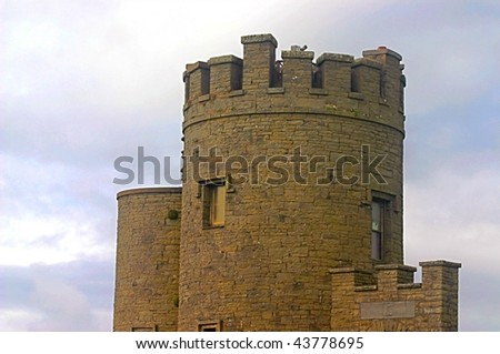 O'Briens Tower, Cliffs of Moher, Ireland - stock photo