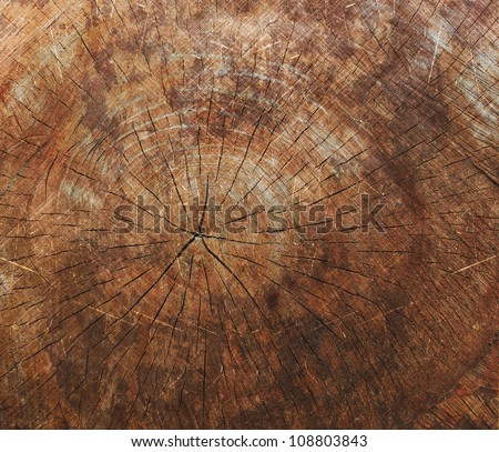 Oak wood vintage abstract rusty colored background - stock photo