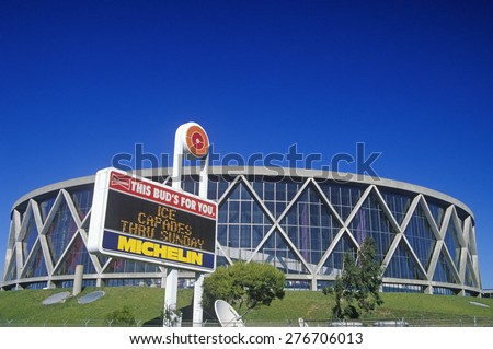 Oakland Stadium Sports Complex and Coliseum - Home of the Oakland A's, Oakland, California - stock photo