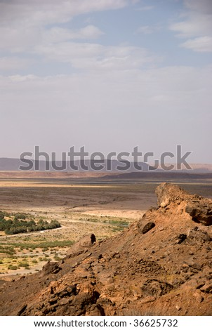 Oasis at the border of Sahara, Morocco - stock photo
