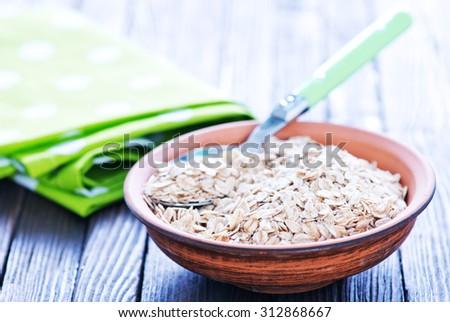oat flakes - stock photo