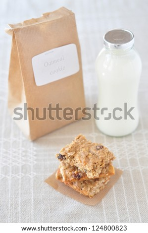 Oatmeal cookie - stock photo