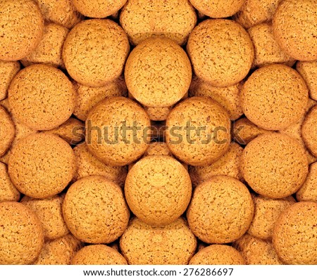 Oatmeal cookies background - stock photo