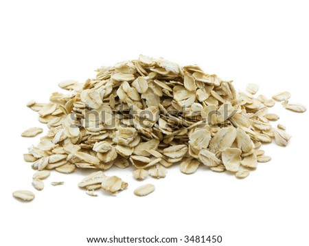 Oats isolated on white - stock photo