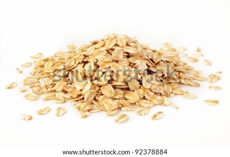 oats on white background - stock photo