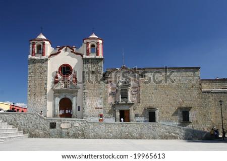 Oaxaca church - stock photo