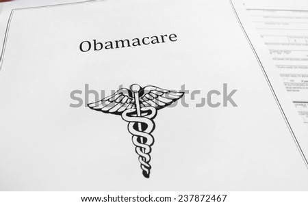 Obamacare aka Affordable Care Act document                                 - stock photo