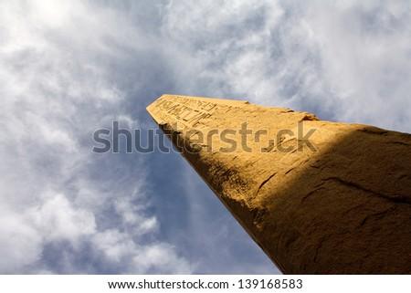 Obelisk at Karnak Temple, Luxor, Egypt - stock photo
