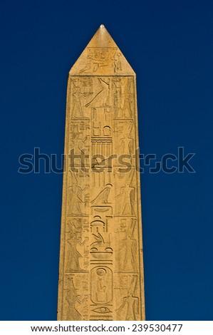 Obelisk of Hatshepsut in the temple of Karnak, Luxor, Egypt - stock photo
