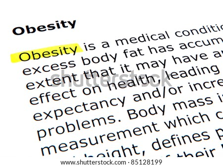 Obesity - stock photo