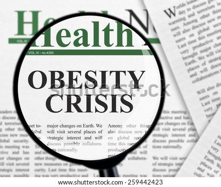 Obesity crisis - stock photo