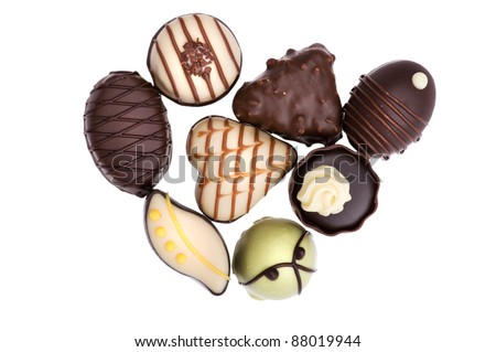 object on white - food chocolate candy - stock photo