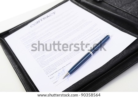 objects in the workplace of a businessman in office - stock photo