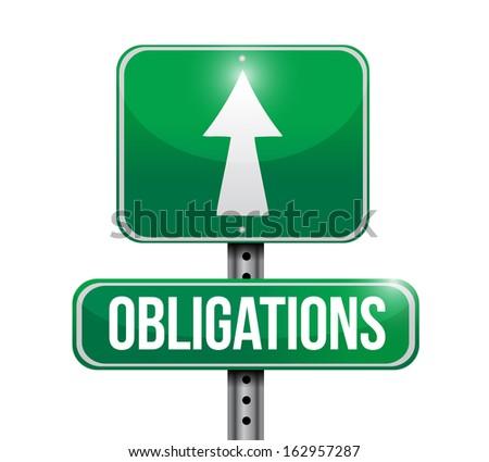 obligations road sign illustration design over a white background - stock photo
