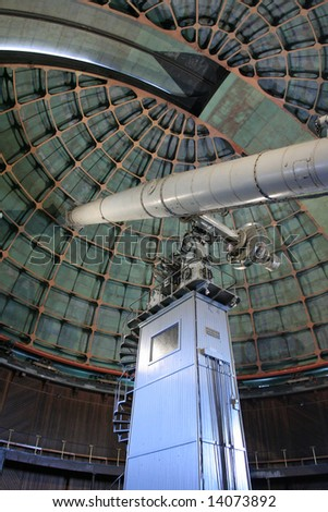 OBSERVATORY TELESCOPE DOME Lick Observatory on the summit of Mount Hamilton, east of San Jose, California, USA. - stock photo