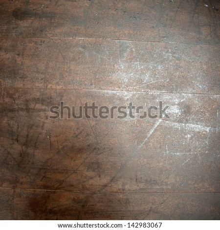 Obsolete industrial design table material - stock photo