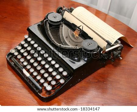 obsolete vintage typewriter - stock photo