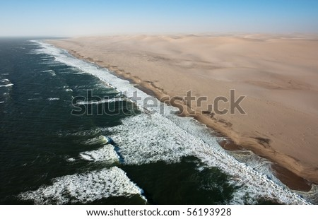 Ocean an desert - stock photo