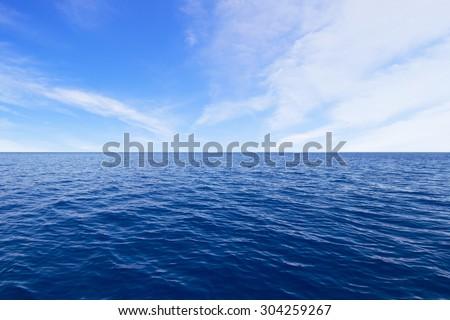 Ocean and Sky - stock photo
