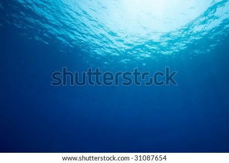 ocean and sun - stock photo
