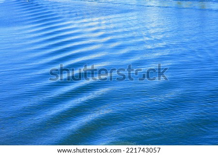 Ocean background in blue color - stock photo
