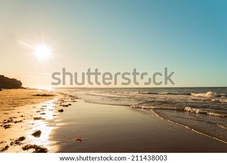 Ocean beach (Green Gables Shore, Prince Edward Island , Canada) - stock photo