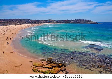 Ocean Beach, Sydney Australia - stock photo