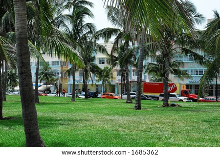 Ocean drive - Miami - stock photo