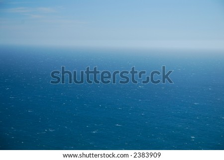 Ocean from above - stock photo