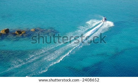 Ocean Jet Ski Rider - stock photo